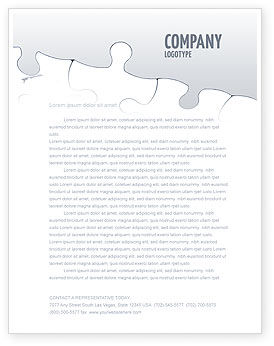 Global: Map Fragments Letterhead Template #03989