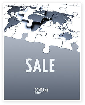 Map Fragments Sale Poster Template