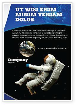 Technology, Science & Computers: Kosmonaut Advertentie Template #03991