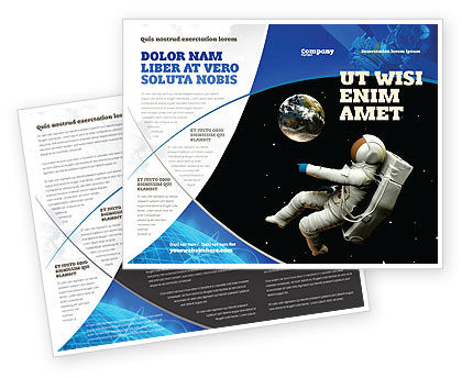 Technology, Science & Computers: Cosmonaut Brochure Template #03991