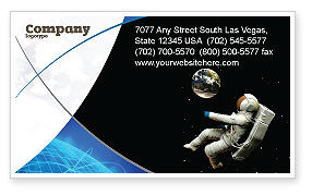 Cosmonaut Business Card Template, 03991, Technology, Science & Computers — PoweredTemplate.com