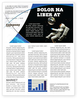 Cosmonaut Newsletter Template, 03991, Technology, Science & Computers — PoweredTemplate.com