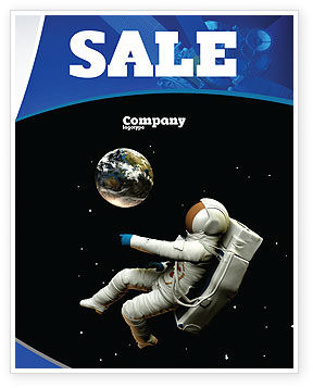 Cosmonaut Sale Poster Template, 03991, Technology, Science & Computers — PoweredTemplate.com