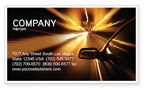 Need for Speed Business Card Template, 03992, Cars/Transportation — PoweredTemplate.com