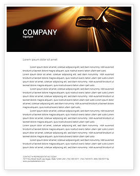 Need for Speed Letterhead Template, 03992, Cars/Transportation — PoweredTemplate.com