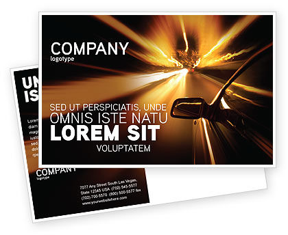 Cars/Transportation: Need for Speed Postcard Template #03992