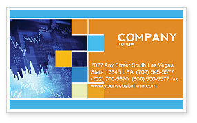 Financial/Accounting: Stock Prices Business Card Template #03993