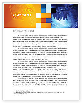 Financial/Accounting: Stock Prices Letterhead Template #03993