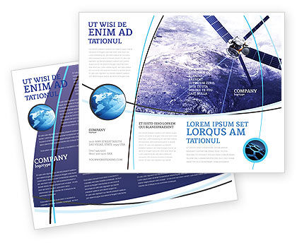 Telecommunication: Communication Satellite Brochure Template #03994