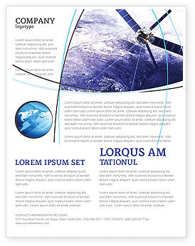 Telecommunication: Communication Satellite Flyer Template #03994
