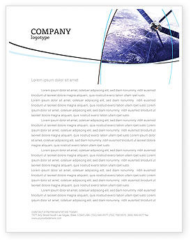 Telecommunication: Communication Satellite Letterhead Template #03994