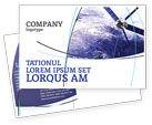 Telecommunication: Communication Satellite Postcard Template #03994
