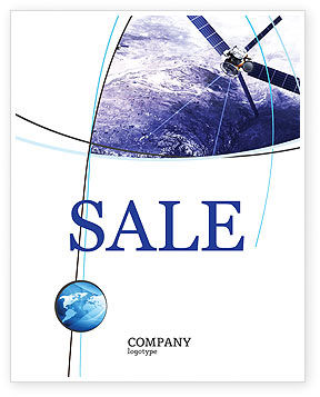 Telecommunication: Communication Satellite Sale Poster Template #03994