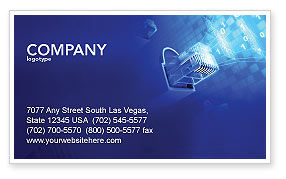 Technology, Science & Computers: Patch Cord Connector Business Card Template #03995