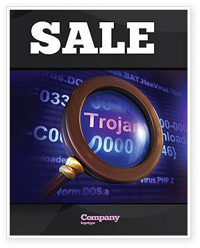 Computer Virus Sale Poster Template, 03997, Technology, Science & Computers — PoweredTemplate.com