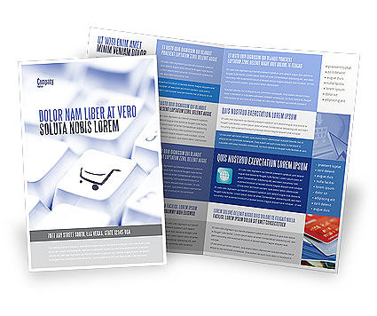 Shopping Cart Brochure Template, 03998, Careers/Industry — PoweredTemplate.com