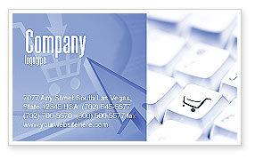 Careers/Industry: Shopping Cart Business Card Template #03998