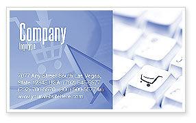 Careers/Industry: ショッピングカート - 名刺テンプレート #03998