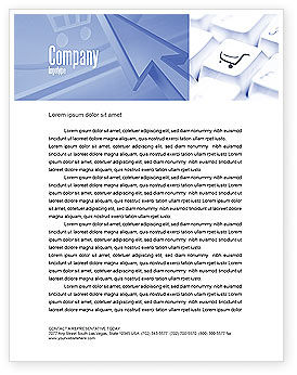 Shopping Cart Letterhead Template, 03998, Careers/Industry — PoweredTemplate.com
