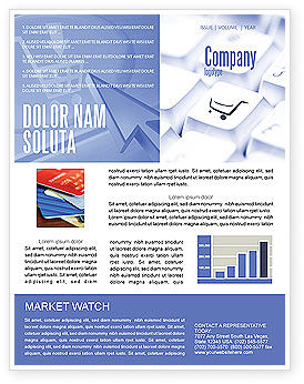 Shopping Cart Newsletter Template, 03998, Careers/Industry — PoweredTemplate.com