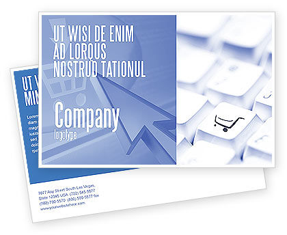 Careers/Industry: Shopping Cart Postcard Template #03998