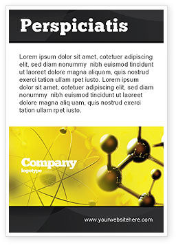 Abstract/Textures: Molecular Lattice In Dark Yellow Colors Ad Template #04002