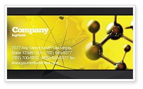 Molecular Lattice In Dark Yellow Colors Business Card Template, 04002, Abstract/Textures — PoweredTemplate.com
