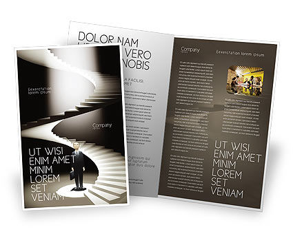 Career Promotion Brochure Template, 04005, Careers/Industry — PoweredTemplate.com