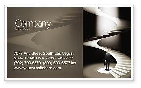 Career Promotion Business Card Template, 04005, Careers/Industry — PoweredTemplate.com