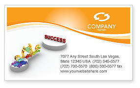 Bridge To Success Business Card Template, 04006, Business Concepts — PoweredTemplate.com
