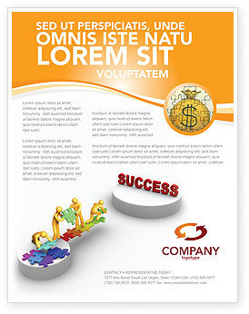 Business Concepts: Bridge To Success Flyer Template #04006