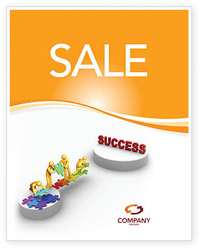 Bridge To Success Sale Poster Template, 04006, Business Concepts — PoweredTemplate.com