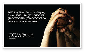 Religious/Spiritual: Emotional Support Business Card Template #04007