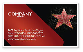 Careers/Industry: Walk of Fame Business Card Template #04009