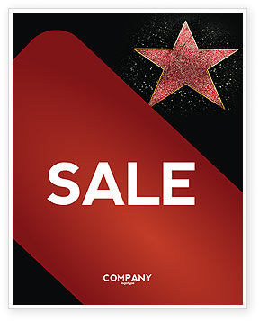 Careers/Industry: Walk of Fame Sale Poster Template #04009