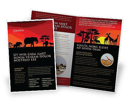 Savanna Sundown Brochure Template, 04012, Nature & Environment — PoweredTemplate.com