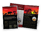 Nature & Environment: Savanna Sundown Brochure Template #04012