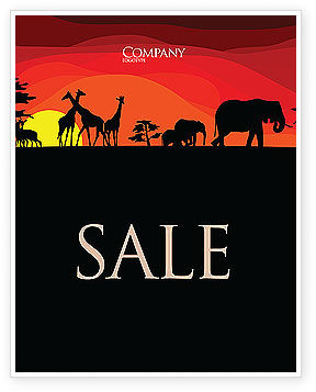 Nature & Environment: Savanna Sundown Sale Poster Template #04012