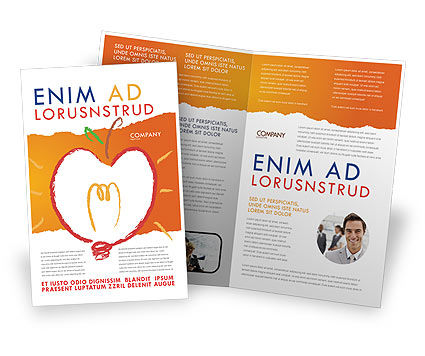 Comprehension Brochure Template, 04016, Business Concepts — PoweredTemplate.com