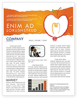 Comprehension Newsletter Template, 04016, Business Concepts — PoweredTemplate.com