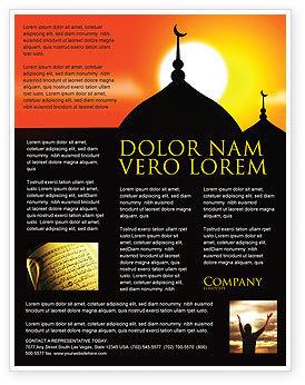 Mosques Flyer Template, 04019, Religious/Spiritual — PoweredTemplate.com