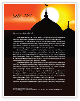 Mosques Letterhead Template
