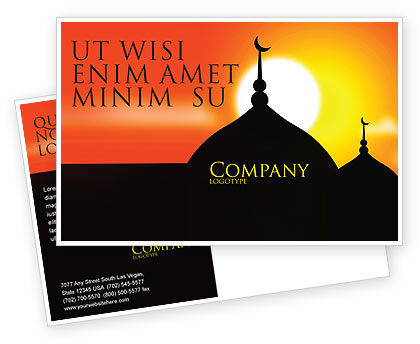 Mosques Postcard Template