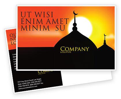 Mosques Postcard Template, 04019, Religious/Spiritual — PoweredTemplate.com