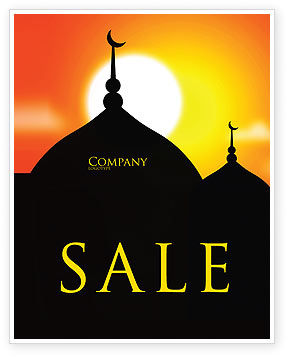 Mosques Sale Poster Template, 04019, Religious/Spiritual — PoweredTemplate.com