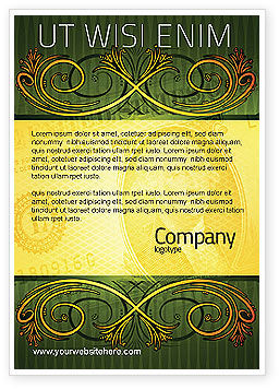 Dollar In Yellow Ad Template, 04022, Financial/Accounting — PoweredTemplate.com