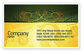 Financial/Accounting: Dollar In Yellow Business Card Template #04022