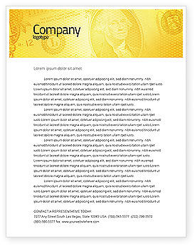 Dollar In Yellow Letterhead Template, 04022, Financial/Accounting — PoweredTemplate.com