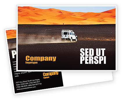 Nature & Environment: Extreme Expedition Postcard Template #04023