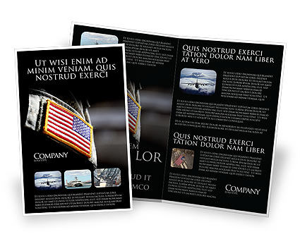 Military: Amerikaanse Strijdkrachten Brochure Template #04026